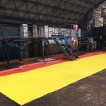 Yellow and red Electroguard anti static floor